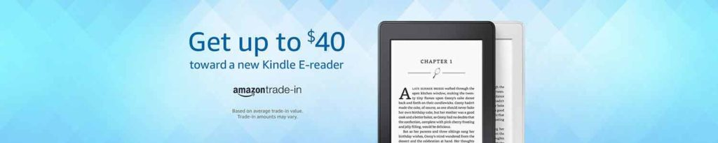 Amazon gift cards plus extra 25% off all-new Kindle e-readers Amazon Trade-In