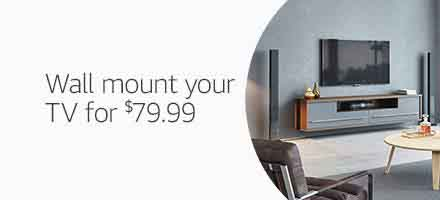 Extra 25% off TV Wall Mounting with Amazon Home Service