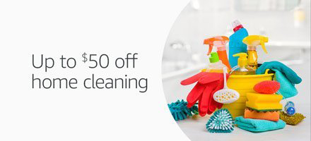 Promo code 'CLEANUP8' for extra $25 savings on Amazon Home Service