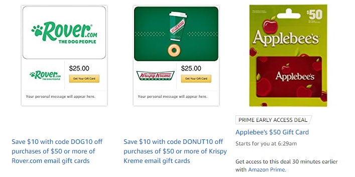 Shop Amazon Gift Cards Brand with promo codes