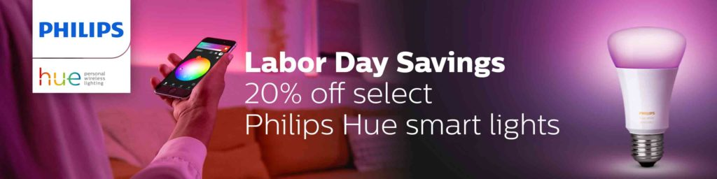 20% off Labor Day promo for Philips Hue smart lights Amazon