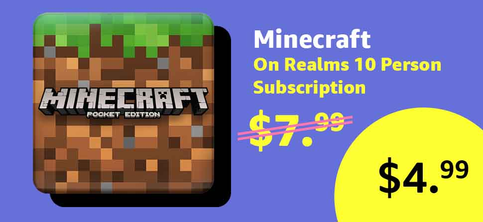 Amazon 2018 Black Friday promo for Minecraft