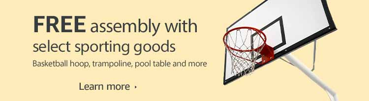 FREE assembly with sporting goods through Amazon Home Service