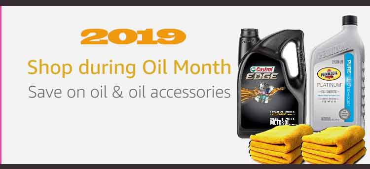 Oil Month promo, Amazon deals on oil, oil filters, truck parts and accessories, and more
