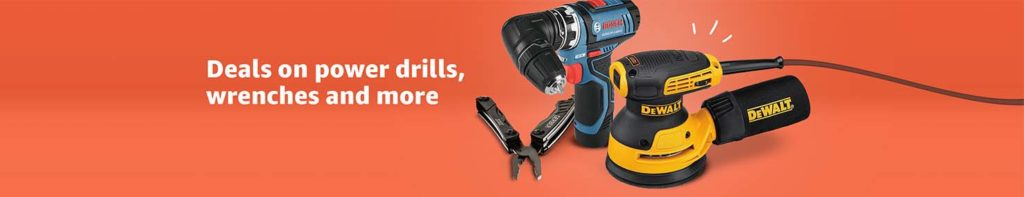 promo for Tools & Home Improvement Amazon
