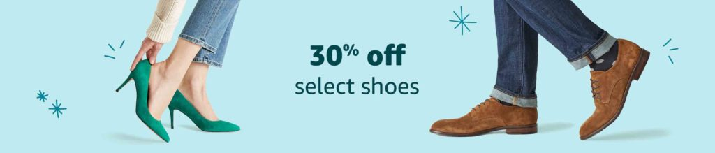 30% off early Black Friday promo for shoes and accessories Amazon