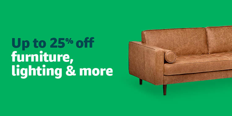 2018 Black Friday promo month for 25% off furniture/lighting/more Amazon