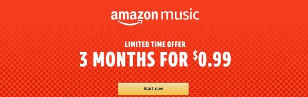promo code 'DOT1' when you sign up Amazon Music Unlimited