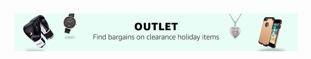 Outlet promo on clearance holiday items Amazon