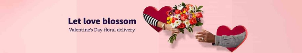 Valentine's Day floral delivery with promo Amazon