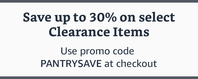 30% off promo code 'PANTRYSAVE' for Amazon Prime Pantry Clearance