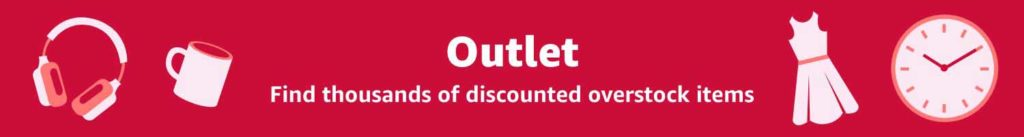 Outlet promo on clearance items Amazon