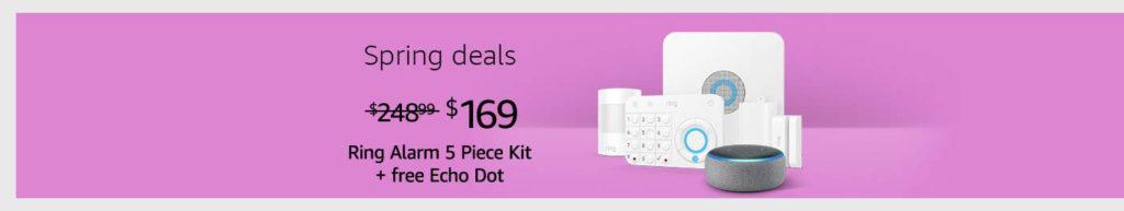 Ring Alarm 5 Piece Kit + Echo Dot (3rd Gen)