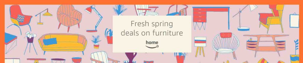 Season promos for 25% off furniture/lighting and more Amazon