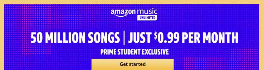 promos from Amazon Prime Student
