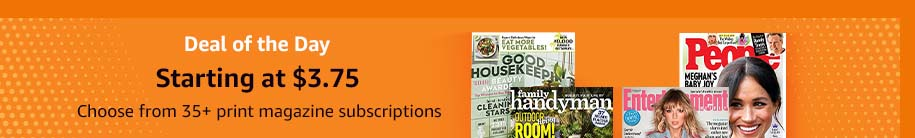 subscriptions to top print & digital magazines Amazon