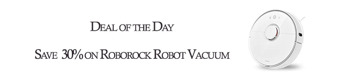 Save up tp 30% on Roborock Robot Vacuum