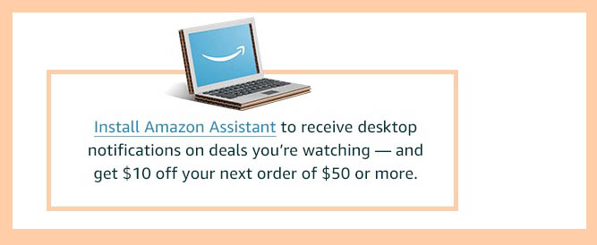 Free Amazon credit with promo code installing Amazon Assistant in browser