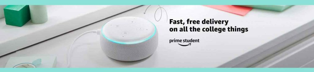 Benefits with promos from Amazon Prime Student