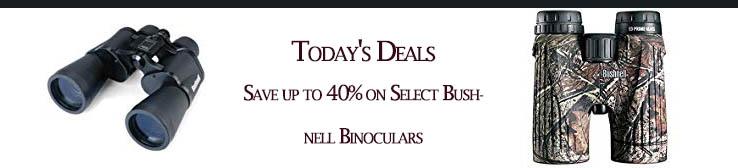 Promos for Bushnell Binoculars & Scopes