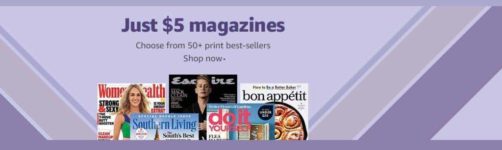 magazine subscription promo