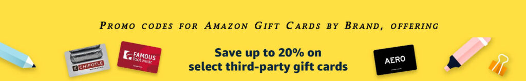 promo codes for Amazon Gift Cards Brand