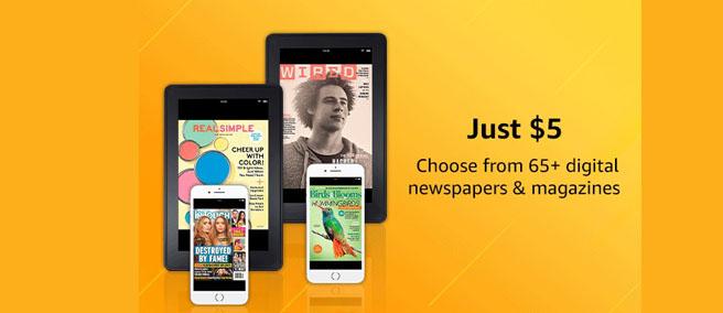 Amazon magazine subscription
