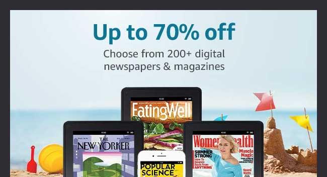 magazines subscriptions promo