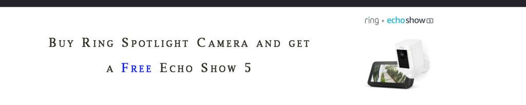 Amazon smart camera promo