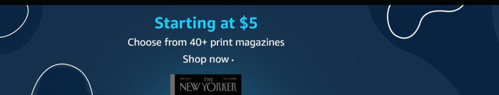 magazines subscription promos