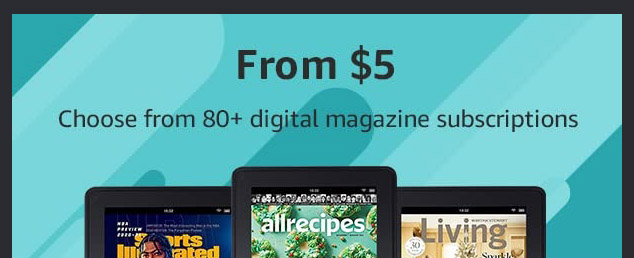 promos on subscriptions to print & digital magazines
