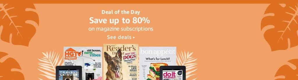 Amazon Magazine Subscriptions