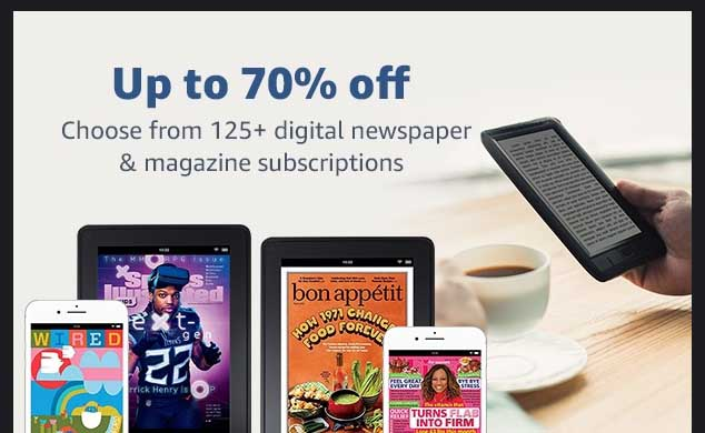 promos on subscriptions to magazines