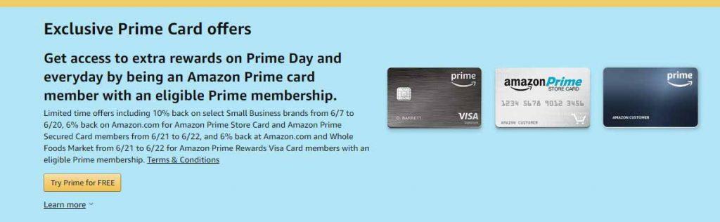 Amazon Prime card