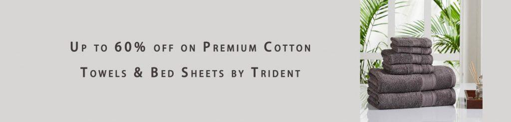 Premium Cotton Towels & Bed Sheets Trident