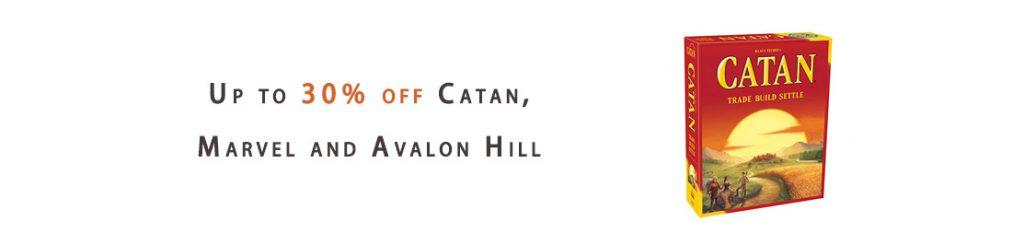 Catan, Marvel and Avalon Hill